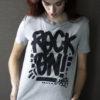 handpainted shirt rock on artist Toshy